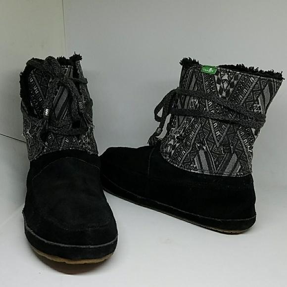 4e5514fcd79f40 💞Sanuk SoulShine Chill Tribal Design Boots. M 5a5a2fedf9e501c5243dd595